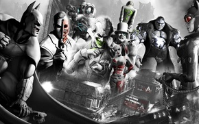 Picture Catwoman, Batman Arkham City, the characters in the game, Penguin