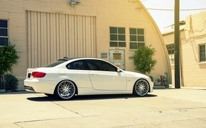 Picture BMW, white, E92, 328i, MRR Wheels