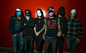 Wallpaper Hollywood, J-Dog, Charlie Scene, Funny Man, Da Kurlzz, J3T, Deuce, Hollywood Undead