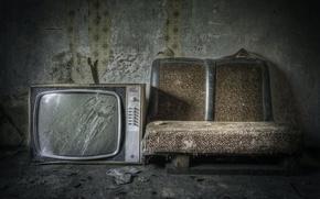 Picture room, sofa, TV