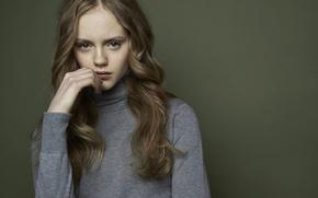 Picture girl, portrait, freckles