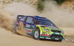 Picture Ford, Dust, Turn, Ford, Focus, WRC, Rally, Focus, Jari-Matti Latvala