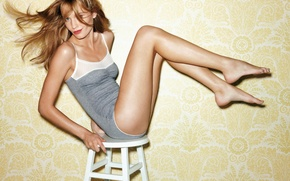 Picture blonde, chair, legs, young