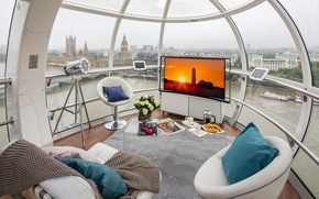 Picture design, interior, advertising, Eye, Samsung's latest curved OLED screen, London Eye to create, Ultimate Room