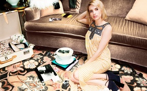 Picture fashion, Emma Roberts, photoshoot, clothes, Jimmy Choo