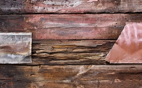 Picture metal, wood, iron, nails, patern