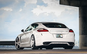 Picture The sky, Clouds, Auto, Porsche, Tuning, Panamera, Machine, Drives