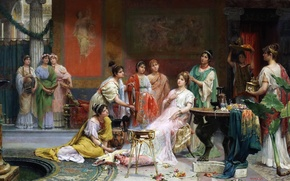 Picture picture, genre, Juan Jimenez and Martin, The Toilet Of The Roman Ladies