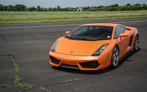 Picture Lamborghini, Gallardo, orange, track