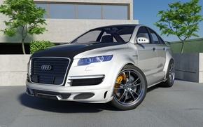 Wallpaper graphics, Audi, tuning
