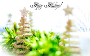 Picture green, background, holiday, tree, new year, Christmas, spruce, new year, tinsel, herringbone, merry christmas