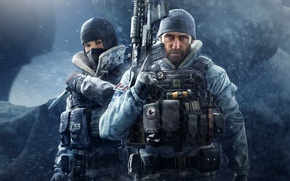 Wallpaper Tom Clancy's, Tom Clancy's Rainbow Six Siege, Canada, mask, rifle, knife, soldier, Canadian, man, Operatin ...
