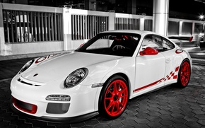 Wallpaper white, 911, white, porsche, Porsche, gt3