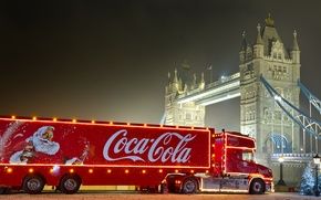 Picture new year, Christmas, coca cola, Coca Cola, Christmas truck, christmas truck, advertising coca cola, Santa …