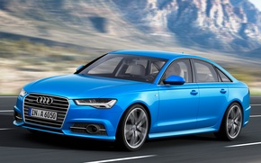Picture Audi, blue, sedan, 3.0