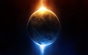 Picture space, yellow, blue, energy, planet