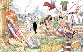 Picture mood, stay, anime, art, friends, One Piece, fun