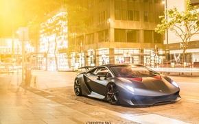 Picture city, Lamborghini, Lamborghini, street, Hong Kong, Sesto Elemento, Chester ng, the sixth element