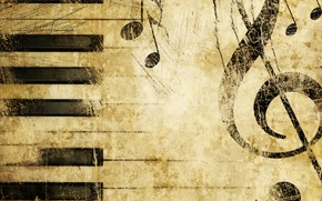Wallpaper music, piano, texture, Treble clef