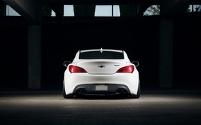 Picture Auto, Tuning, Machine, Garage, Hyundai, Coupe, Back, Genesis
