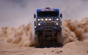 Picture Sand, Dust, Master, KAMAZ, Rally, KAMAZ, Dakar, The front
