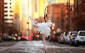 Picture street, dance, girl, ballerina, tiny dancer