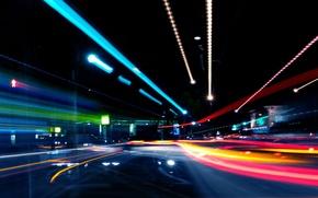 Wallpaper Lights, Night, Road