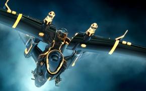 Picture Tron: Legacy, vehicle, TRON Legacy, Daniel Simon, Daniel Simon, Three Man Light Jet