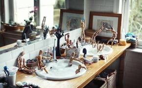 Picture foam, people, men, pool, sink, bathing, photographer, bath, wooden, photography, photographer, ikea, David Olkarny, wash, …