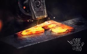 Picture design, style, fire, steel, hammer, hard, steel, work, Factory, pro, Feel