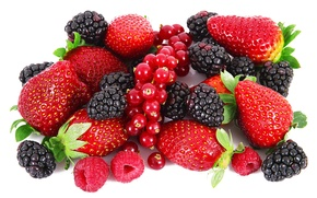 Picture berries, raspberry, strawberry, BlackBerry, red currant