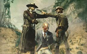 Picture desert, cowboys, call of juarez: bound in blood, showdown