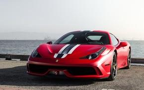 Picture red, ferrari, 458, italia, matte