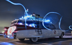 Picture Ghostbusters, Ghostbusters, ECTO-1, Cadillac Miller Meteor