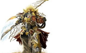 Wallpaper warrior, armor, warhammer