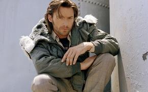 Picture face, hair, jacket, male, actor, Hugh Jackman, Hugh Jackman, pants, the seriousness