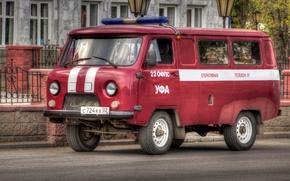 Picture UAZ, RED, CLASSIC, FIRE, SIREN