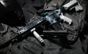 Wallpaper gun, assault rifle, self-loading, background, Glock, weapons
