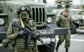 Picture weapons, soldiers, Army, Russia