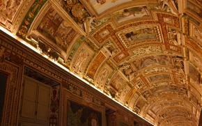 Wallpaper The Vatican, The Vatican Museums, gallery, corridor, the ceiling