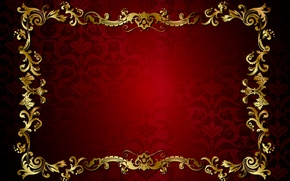 Picture retro, pattern, vector, dark, red, golden, ornament, vintage, texture, vintage, background, pattern, gradient