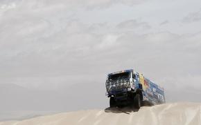 Picture The sky, Blue, Red Bull, KAMAZ, KAMAZ, Dakar, Dakar, Dune