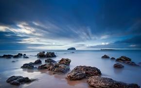 Wallpaper sea, beach, the sky, stones