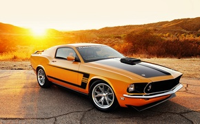 Picture Mustang, Ford, Mustang, 1969, Ford, Fastback, Retrobuilt
