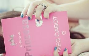 Wallpaper girl, background, pink, Wallpaper, mood, crown, ring, book, decoration, owner