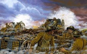 Wallpaper war, September 26, the British, Western Front, France -- September 26, Truman\'s Battery, 1918..At 0420 ...