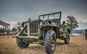 "Picture car, army, Jeep, high, patency, ""Willis-MV"", Willys MB"