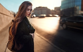 Picture the city, hair, portrait, Russia, sunlight, George Chernyadev, By the spring with a look at …