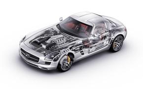 Picture Mercedes, Benz, sls, inside
