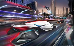 Picture the city, future, police, bmw epatrol concept